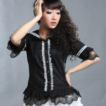 Fashion Half Sleeve Slim Sweet Lolita Lace Blouse for Women