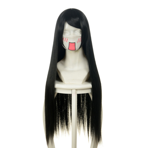 Rulercosplay Fashion Black Heat Resistant Fiber Long Straight Cosplay Wigs Wholesaler Resaler