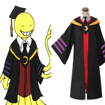 Rulercosplay Assassination Classroom Korosensei Pattern Black Cotton Cosplay Costume Wholesaler Resa