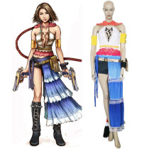 Rulercosplay Final Fantasy XII 12 Yuna Blue Cosplay Costume Wholesaler Resaler