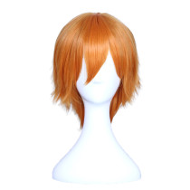 Rulercosplay LoveLive! Honoka Kousaka Male Version Orange Short Heat Resistant Fiber Cosplay Anime W