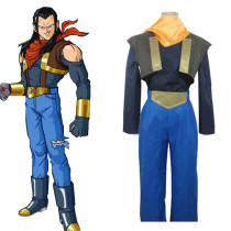 Rulercosplay Dragon Ball Super Andriod Uniform Cloth Combined Leather Cosplay Costume Wholesaler Res