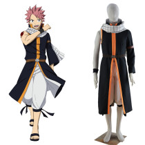 Rulercosplay Fairy Tail Natsu Dragneel New Black Cosplay Costume Wholesaler Resaler