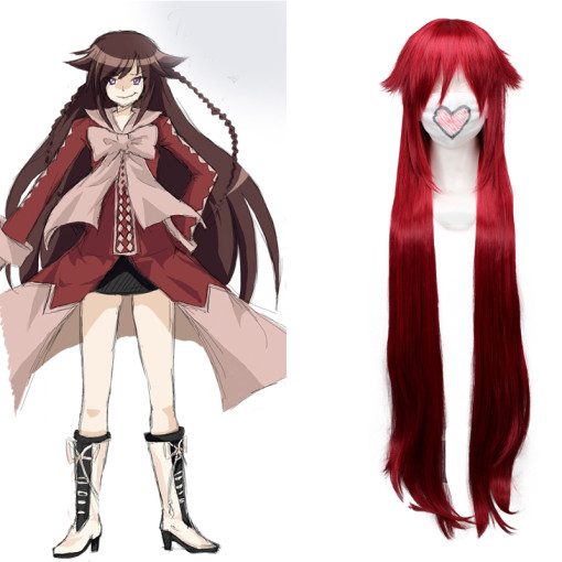 Rulercosplay Heat Resistant Fiber Inspired By Pandora Hearts Alice Super Long Red Anime Wigs Wholesa