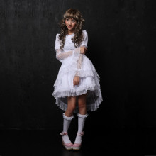 Knee-length Dress with Tutu Lace Princess Lolita Dress