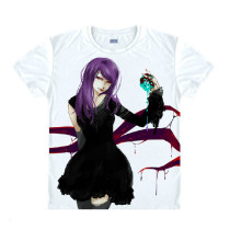 Tokyo Ghoul Fashion Animation White Smooth Decron T-shirt 025 More Patterns
