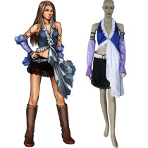 Rulercosplay Final Fantasy X-2 Yuna Lenne Singing Blue Cosplay Costume Wholesaler Resaler
