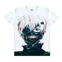 Tokyo Ghoul Fashion Animation White Smooth Decron T-shirt 050 More Patterns Anime Cosplay Custome.