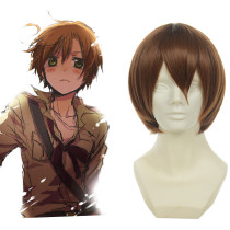 Rulercosplay Heat Resistant Fiber Inspired By Hetalia South Italy Chiara Vargas Short Brown Anime Wi