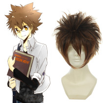 Rulercosplay Heat Resistant Fiber Inspired By Reborn! Tsunayoshi Sawada Super Long Brown Anime Wigs