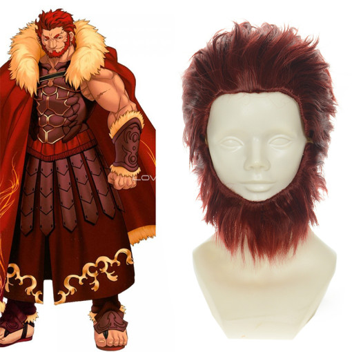 Rulercosplay Fate Zero Rider King High Temperature Fiber Red Anime Short Cosplay Anime Wigs Wholesal