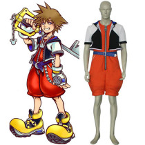 Rulercosplay Kingdom Hearts 1 Sora Orange Cosplay Costume Wholesaler Resaler
