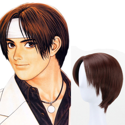Rulercosplay The King Of Fighters Kyo Kusanagi Brown Heat Resistant Fiber Anime Cosplay Anime Wigs W