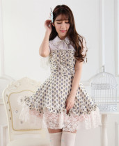 Short Sleeves Knee-length Yellow Princess Dress with Painted Eggs Sweet Lolita Dress Customize