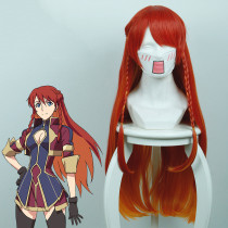 Rulercosplay Re:CREATORS Serrega Eubie, Leah Long Yellow And Red Anime Cosplay Wigs