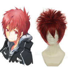 Rulercosplay Heat Resistant Fiber Inspired By Reborn! Enma Kozato Short Red Cosplay Anime Wigs Whole