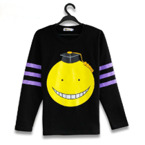 Assassination Classroom Korosensei Winter Black Cotton Long Sleeve T-shirt Related Product Animation
