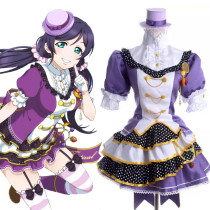 Rulercosplay LoveLive! Nozomi Tojo Purple Satin Cosplay Costume Wholesaler Resaler