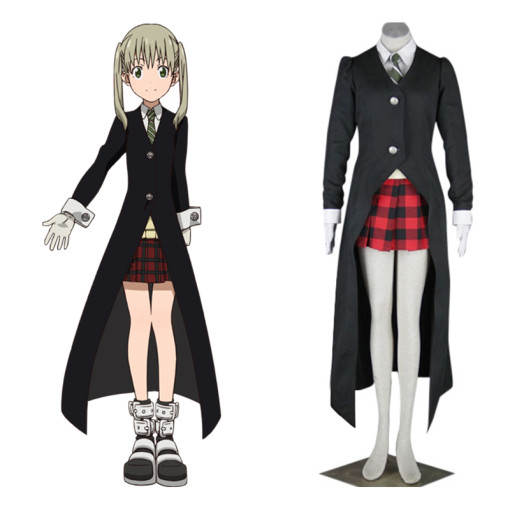 Rulercosplay Soul Eater Maka Albarn Black Uniform Cloth Cosplay Costume Wholesaler Resaler