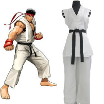 Rulercosplay Street Fighter Ryu Adult White Cosplay Costume Wholesaler Resaler