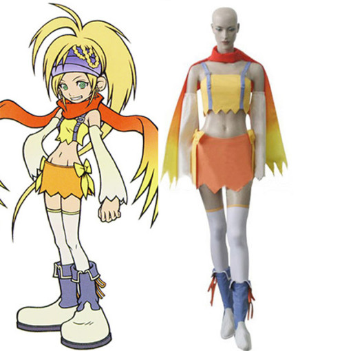 Rulercosplay Kingdom Hearts 2 Fairy Rikku Yellow Cosplay Costume Wholesaler Resaler
