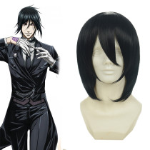 Rulercosplay Black Butler Sebastian Michaelis Medium Black Cosplay Anime Wigs Wholesaler Resaler
