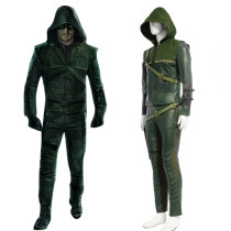 Rulercosplay Green Arrow Oliver Queen Leather Cosplay Costume Wholesaler Resaler