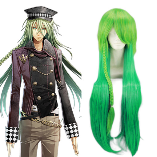 Rulercosplay Long AMNESIA Ukyo Green Heat Resistant Fiber Anime Cosplay Anime Wigs Wholesaler Resale