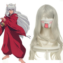 Rulercosplay Heat Resistant Fiber Inspired By InuYasha InuYasha Super Long White Anime Wigs Wholesal