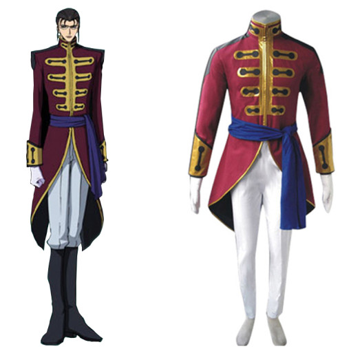 Rulercosplay Code Geass Gilbert G-P Guilford Red Cosplay Costume Wholesaler Resaler