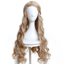 Rulercosplay Game of Thrones Cersei Lannister Queen Long Curly Blonde Anime Cosplay Wigs