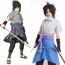 Rulercosplay Naruto Uchiha Sasuke Pattern Blue Cotton Cosplay Costume Wholesaler Resaler