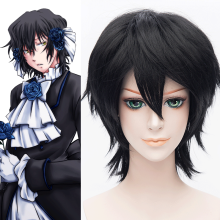 Rulercosplay Heat Resistant Fiber inspired by Pandora Hearts Gilbert Nightray Short Ink Cosplay Anim