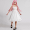 Rulercosplay Hatsune Miku Megurine Luka Pattern White Cotton Chiffe Dress Cosplay Costume Wholesaler