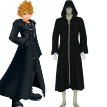 Rulercosplay Black Uniform Cloth Kingdom Hearts 2 Organization XIII Roxas Cosplay Costume Wholesaler