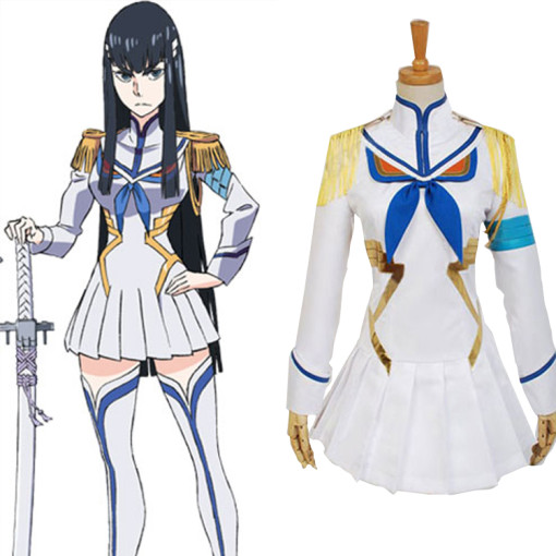 Rulercosplay Kill L a Kill Ryuko Satsuki Kiryuin Unifrom White Cosplay Costume Wholesaler Resaler