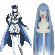 Rulercosplay Akame Ga KILL! Long Blue Esdeath Cosplay Anime Wigs Wholesaler Resaler