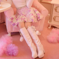 Sweet Floral Shape Lolita Fashion Skirt