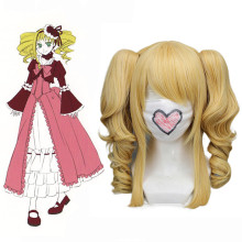 RulerCosplay Heat Resistant Fiber Inspired By Black Butler Elizabeth Long Curly Golden Anime Wigs Wh