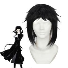 Rulercosplay Stray Dogs Ryūnosuke Akutagawa Black Anime Cosplay Wigs Wholesaler Resaler