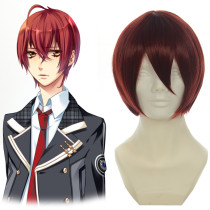 Rulercosplay Short Starry☆Sky Tomoe Yoh Wine Red Heat Resistant Fiber Cosplay Anime Wigs Wholesaler
