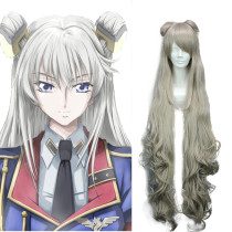Rulercosplay Heat Resistant Fiber Inspired By Code Geass Layla·Markale Super Long Golden Anime Wigs