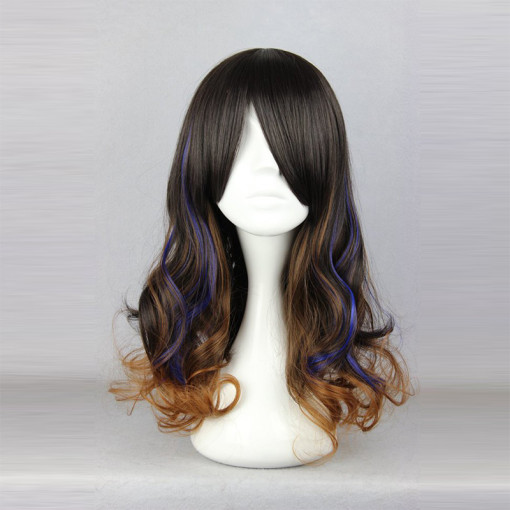 Rulercosplay Curly Black With Blue Lolita Fashion Wigs Wholesaler Resaler