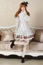 Long Sleeves Knee-length Blue Princess Dress Sweet Lolita Dress Customize