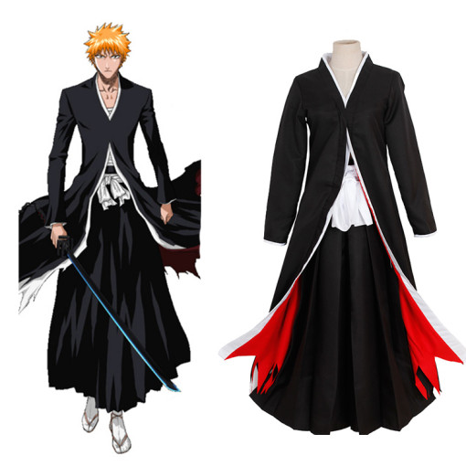 Rulercosplay Bleach Anime Kurosaki Ichigo Bankai Black Cosplay Costume Wholesaler Resaler