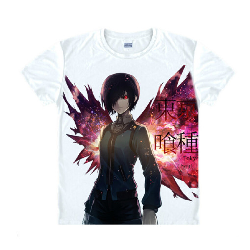 Tokyo Ghoul Fashion Animation White Smooth Decron T-shirt 031 More Patterns