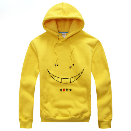 Assassination Classroom Korosensei Winter and Autumn Yellow Plush Hooded Jacket Related Product Anim