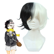 Rulercosplay Stray Dogs Yumeno Kyusaku Black and White Short Anime Cosplay Wigs Wholesaler Resaler.