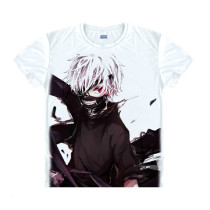 Tokyo Ghoul Fashion Animation White Smooth Decron T-shirt 038 More Patterns