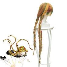 Rulercosplay Land of the Lustrous Sphene Colorful Braid Long Anime Cosplay Wigs